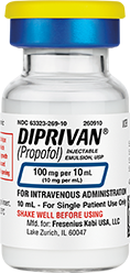 DIPRIVAN 100 mg per 10 mL vial