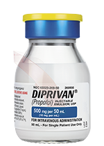 DIPRIVAN 500 mg per 50 mL